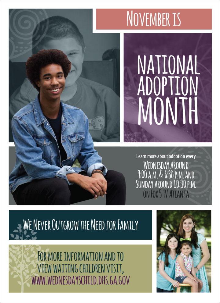 National Adoption Month Flyer Design