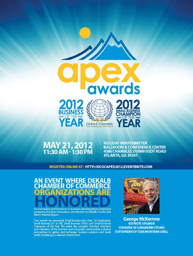 DeKalb County Chamber of Commerce Apex Award Ad Design