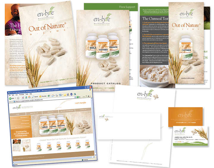 Out of Nature N-Zyme Brochure Design