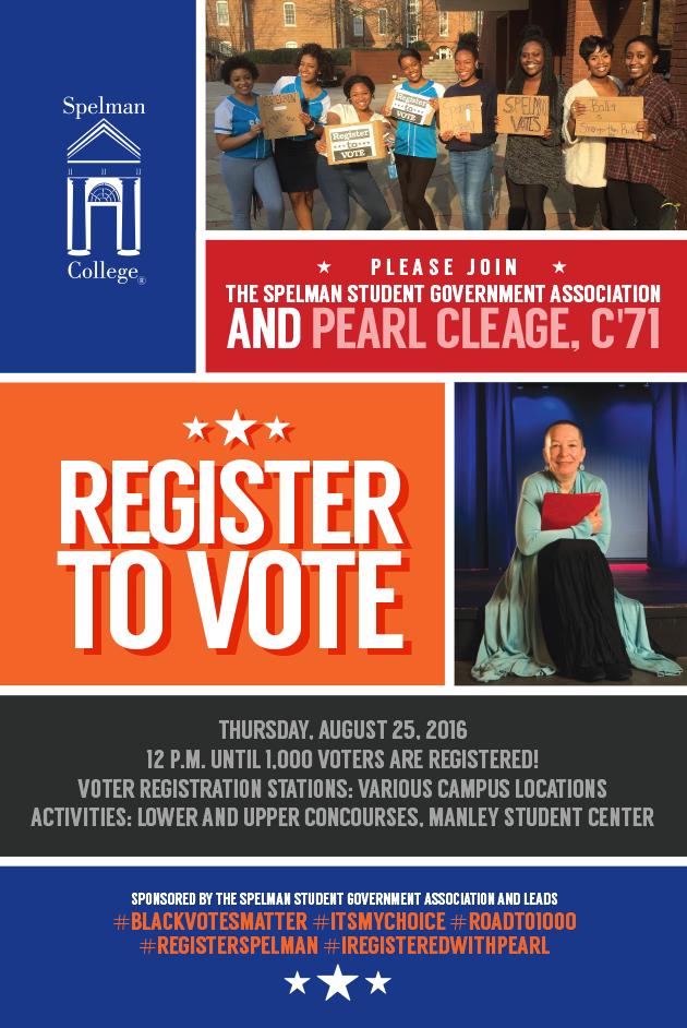 Spelman College Voting Poster Design