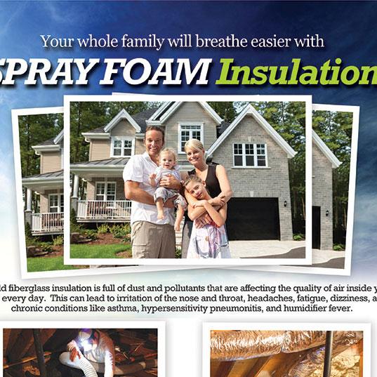 Spray Foam Insulation Full Page Ad Design